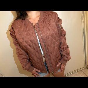 F21 Plus size bomber jacket (Mauve pink)